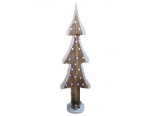 Χριστουγεννιάτικο ξύλινο φωτιζόμενο δέντρο 80 εκ.