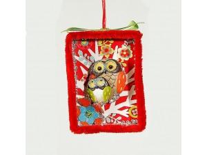 Χριστουγεννιάτικο κρεμαστό στολίδι παράσταση 8x8 εκ.