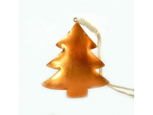 Χριστουγεννιάτικο μεταλλικό στολίδι δεντράκι 9x8x0,2 εκ.