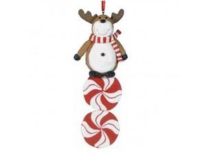 Χριστουγεννιάτικο διακοσμητικό στολίδι τάρανδος 13 εκ.