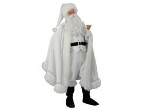 Χριστουγεννιάτικη στολή Άγιος Βασίλης Λευκός