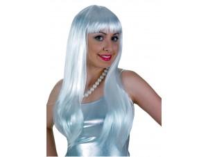 Αποκριάτικη Περούκα Lola Ασπρη