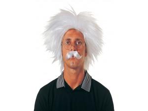 Αποκριάτικη Περούκα Einstein Με Μουστάκι