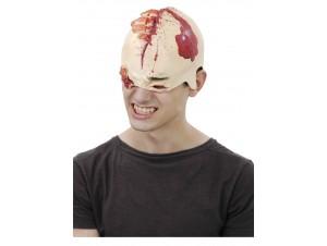 Αποκριάτικη Λάτεξ Μάσκα 2/4 Με Αίμα Και Πληγές