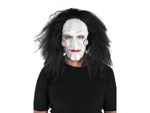 Αποκριάτικη Latex Μάσκα Jig Με Μαλλιά