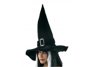 Αποκριάτικο Μαύρο Καπέλο Μάγισσας Με Αγκράφα