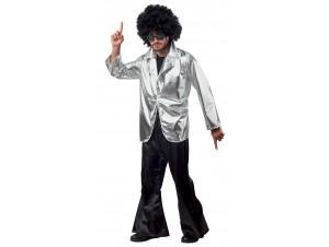 Αποκριάτικη στολή Σακάκη disco ασημί