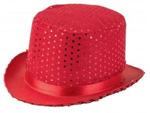 Αποκριάτικο Καπέλο ημίψηλο κόκκινο με πούλιες