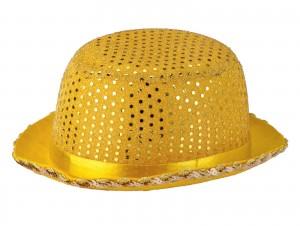 Αποκριάτικο Καπέλο χρυσό με πούλιες