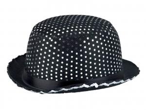Αποκριάτικο Καπέλο μαύρο με πούλιες