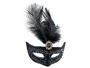 Αποκριάτικη Μάσκα ματιων μεστρας και φτερό