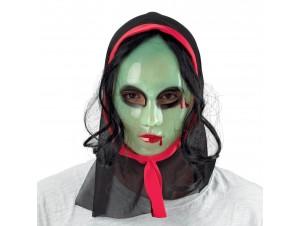 Αποκριάτικη Μάσκα τρόμου με μαλλιά