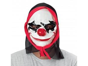Αποκριάτικη Μάσκα κλόουν τρόμου με κουκούλα