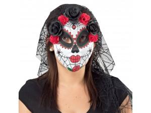 Αποκριάτικη Μάσκα βραζιλιάνικη με τούλι