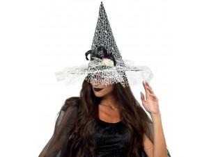 Αποκριάτικο Καπέλο μάγισσας με δίχτυ