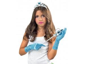 Αποκριάτικο Σετ πριγκίπισσας πάγου με γάντια