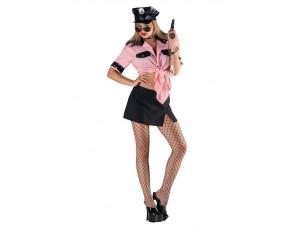Αποκριάτικη στολή Sexy Αστυνομικίνα ροζ