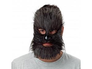 Τριχωτή μάσκα προσώπου με μύτη