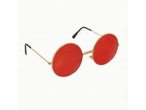 Κόκκινα μεγάλα στρογγυλά γυαλιά