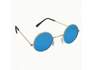 Μπλε μεγάλα στρογγυλά γυαλιά