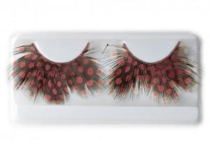Βλεφαρίδες πουά πουπουλένιες