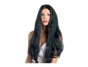 Αποκριάτικη περούκα μαύρη μακριά 22΄