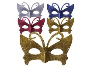 Αποκριάτικη μάσκα ματιών Πεταλούδα με Στρας
