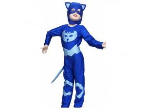 Αποκριάτικη στολή Πιτζαμογάτος μπλε