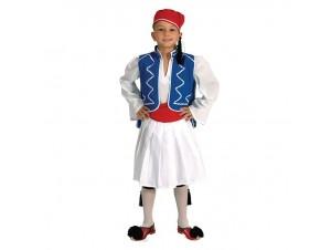 Παιδική Παραδοσιακή Στολή Τσολιάς Κόκκινος 2-3