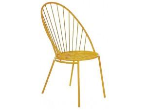 GINO Καρέκλα Μεταλλική Κίτρινη