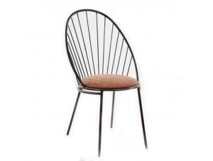 GINO Καρέκλα Μεταλλική Μαύρη