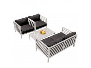 Set Καθιστικό κήπου SOHO WHITE