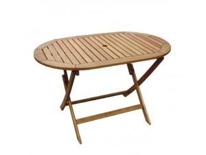 Τραπέζι κήπου οβάλ πτυσσόμενο