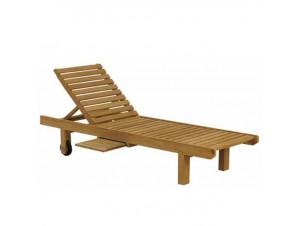 TEAK Ξαπλώστρα Κήπου ξύλινη