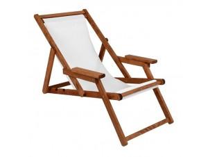 NAXOS PVC Σεζλόνγκ από ξύλο με μαξιλάρι