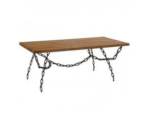 Τραπέζι Μεταλλικό με ξύλο