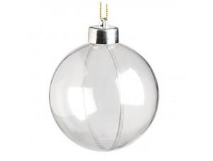 Διάφανη Χριστουγεννιάτικη Πλαστική Μπάλα