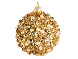 Χριστουγεννιάτικη μπάλα χρυσή 8 εκ.
