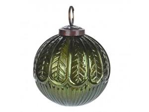 Γύαλινη Χριστουγεννιάτικη Μπάλα Σκούρο Πράσινο