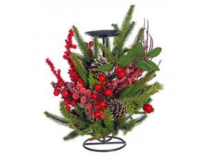 Χριστουγεννιάτικο  Κηροπήγιο Μεταλλικό 30 εκ