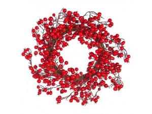 Χριστουγεννιάτικο στεφάνι με Μούρα 35 εκ.