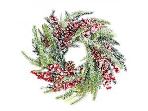 Χριστουγεννιάτικο Στεφάνι Παγωμένο  40 εκ.