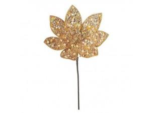Χριστουγεννιάτικο Λουλούδι Αλεξανδρινό διακόσμησης Χρυσό