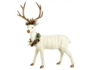 Χριστουγεννιάτικο Διακοσμητικό Λευκό Ταρανδάκι