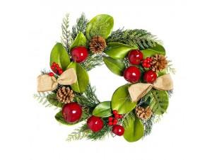 Χριστουγεννιάτικο Στεφάνι Στολισμένο,  45 εκ