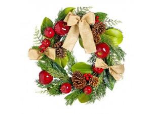 Χριστουγεννιάτικο Στεφάνι Στολισμένο,  50 εκ