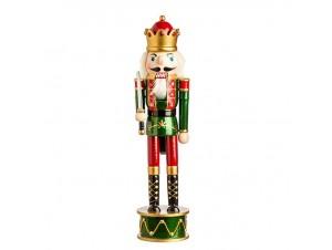 Χριστουγεννιάτικο Διακοσμητικό Ξύλινος Καρυοθραύστης 39 εκ.