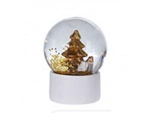 Χριστουγεννιάτικη Κεραμική Χιονόμπαλα, 4,5x6,5 εκ.