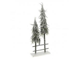 Χριστουγεννιάτικος Φωτιζόμενος Φράχτης με Δέντρα 30 x 80 εκ.