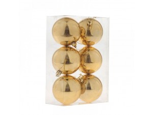 Χρυσή Χριστουγεννιάτικη Μπάλα SET 6 τεμάχια